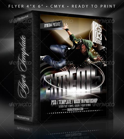 GraphicRiver Extreme 3D (Flyer Template 4x6)