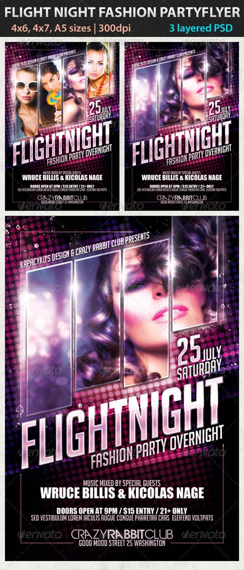 GraphicRiver Flight Night Fashion Party Flyer