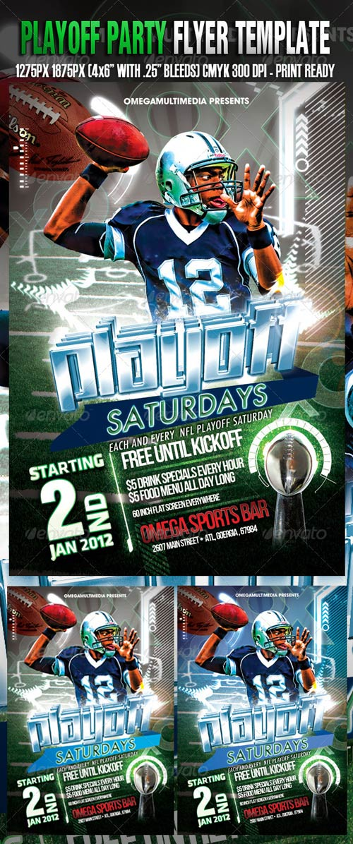GraphicRiver Playoff Saturdays Template