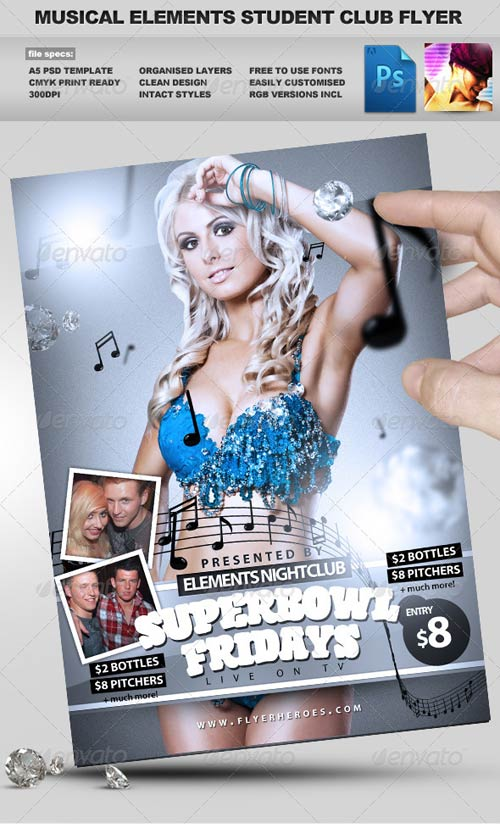 GraphicRiver Student Club Night PSD Party Flyer Template