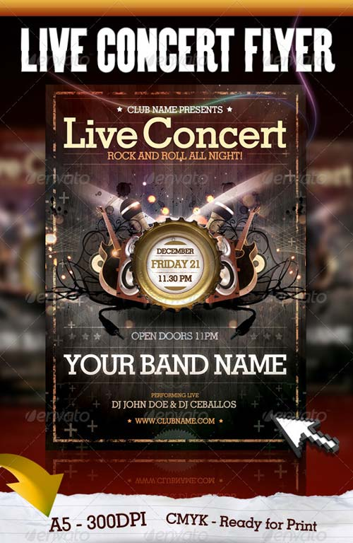 GraphicRiver Live Concert Flyer