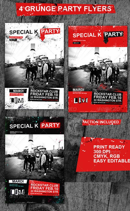 GraphicRiver Grunge Rock Flyers/Posters