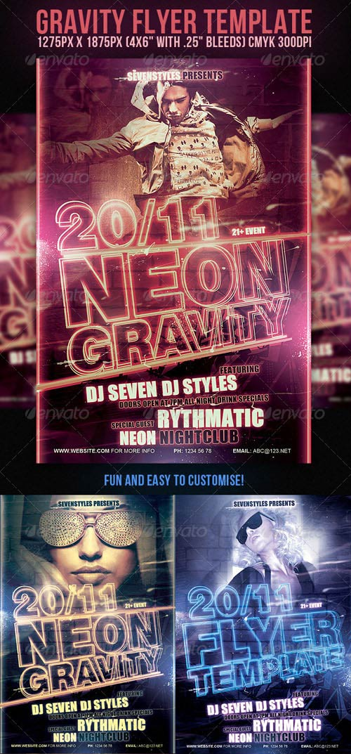 GraphicRiver Gravity Flyer Template