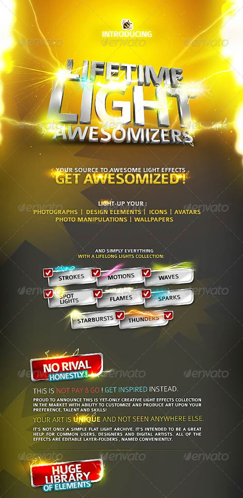 GraphicRiver Lifetime Light Awesomizers (Effects Collection)