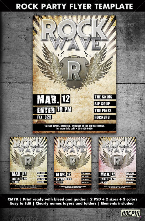 GraphicRiver Rock Party/Concert Flyer Template