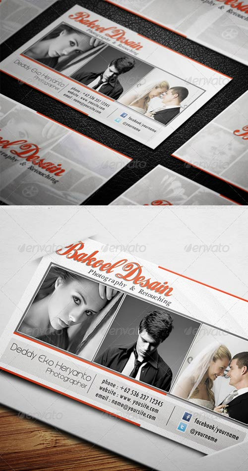 GraphicRiver Clean and Sleek Photographer Card