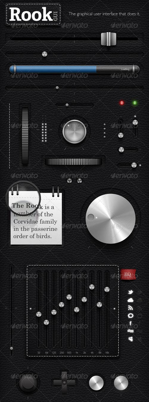 GraphicRiver Rook - GUi - Graphical User Interface - UI