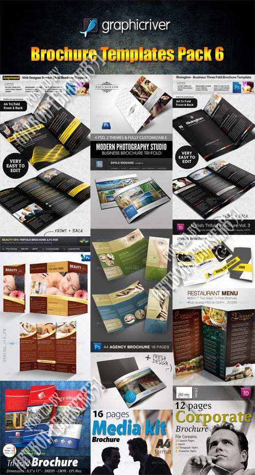 GraphicRiver Brochure Templates Pack 6