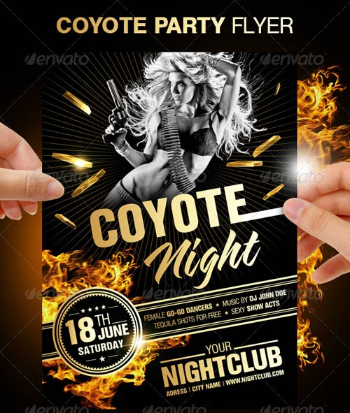 GraphicRiver Coyote Night Party Flyer