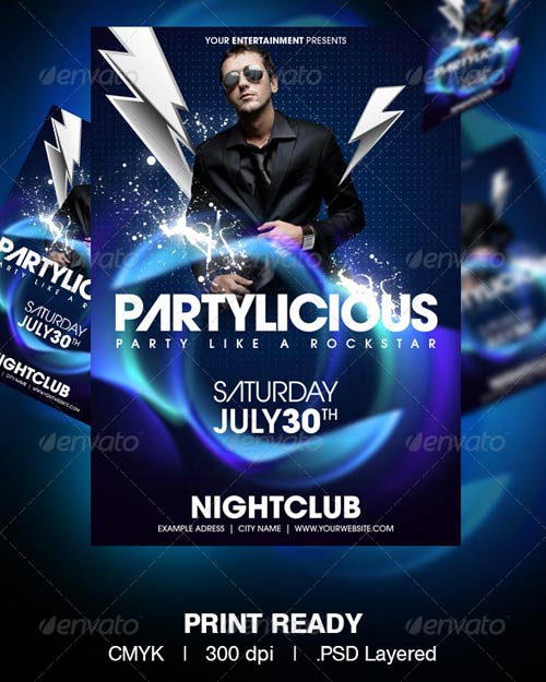 GraphicRiver Partylicious Party Flyer