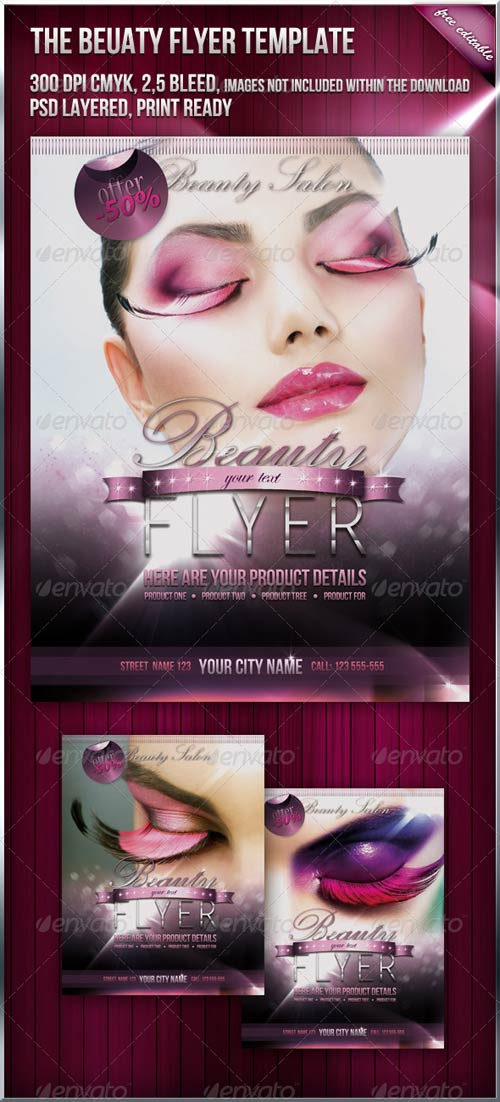 GraphicRiver Beauty Fashion Flyer