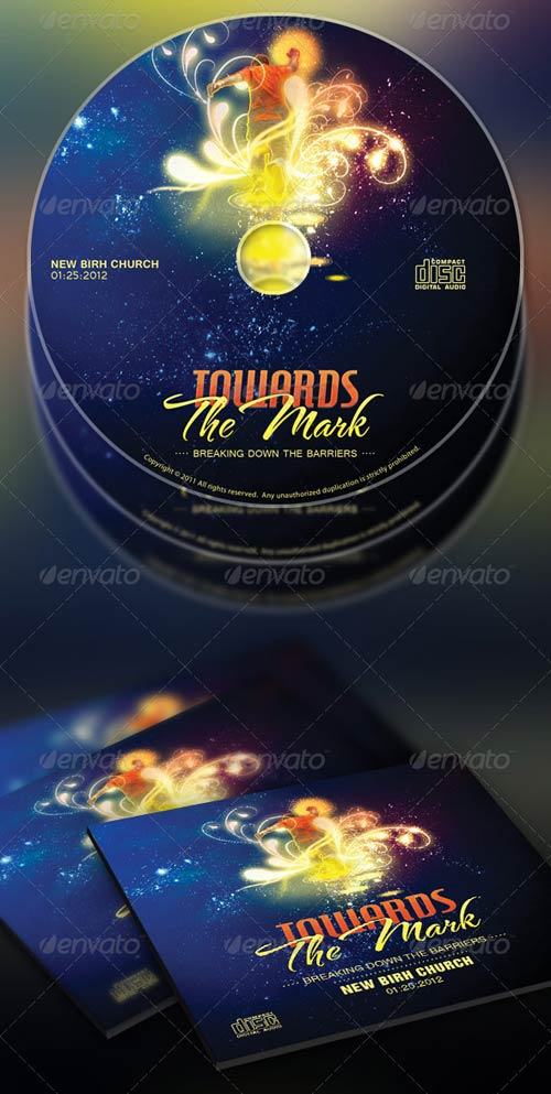 GraphicRiver Towards the Mark Sermon Series Flyer & CD Template