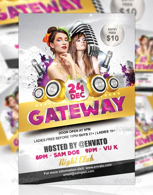 GraphicRiver Gateway Party Flyer