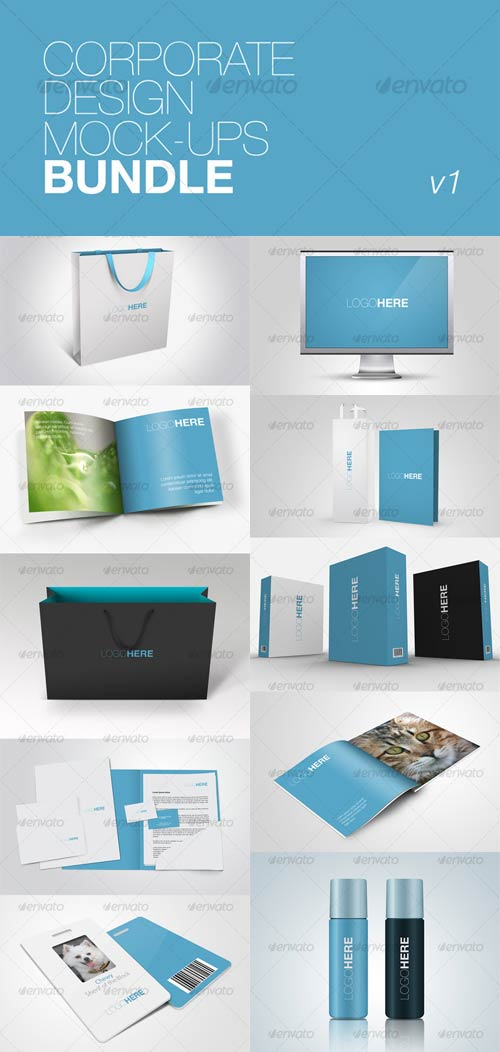 GraphicRiver Corporate Design Mock-ups Bundle v1