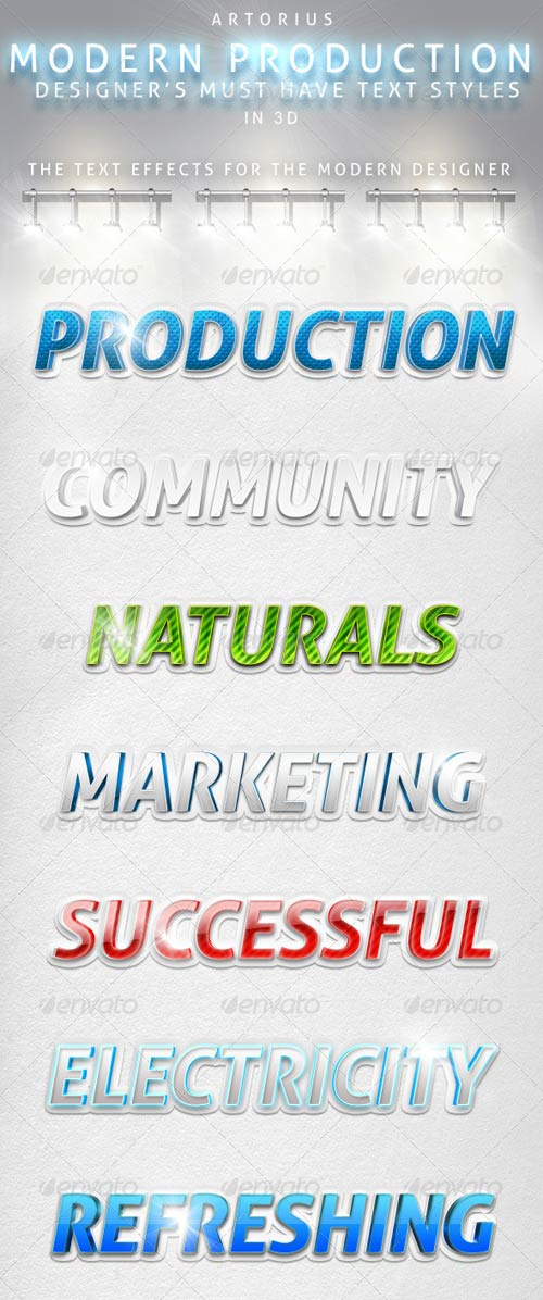 GraphicRiver Modern Production - 3D Text Styles