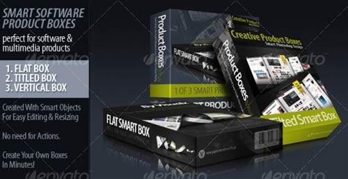GraphicRiver 3 Smart 3D Product Boxes
