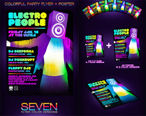 GraphicRiver Colorful Party Flyer + Poster