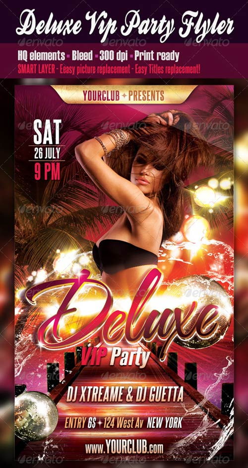 GraphicRiver Deluxe Vip Party Flyer