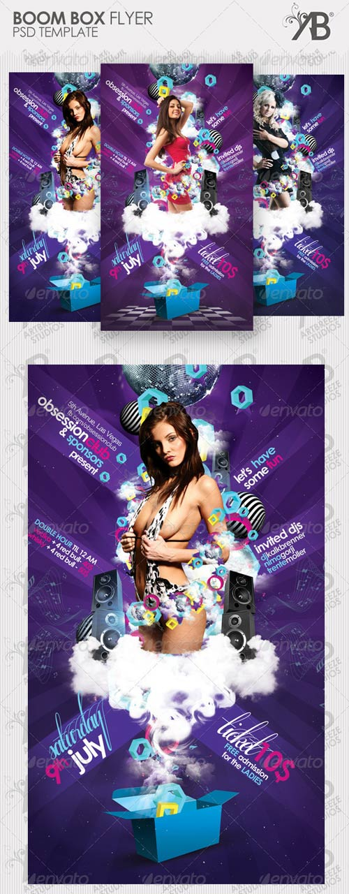 GraphicRiver Boom Box Party Flyer
