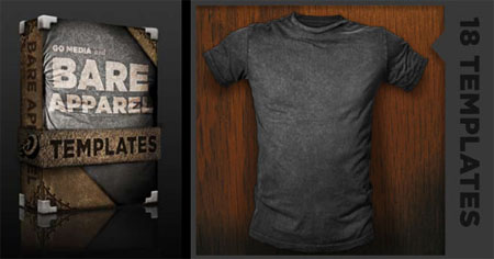 Go Media's Arsenal PSD Templates: Distressed Shirt Mockup Templates