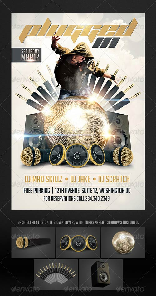 GraphicRiver Plugged in Flyer template