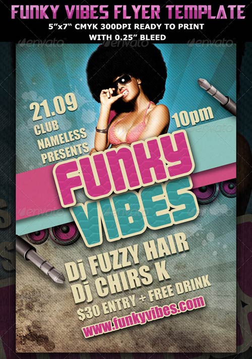 GraphicRiver Funky Vibes Party Club Flyer Template