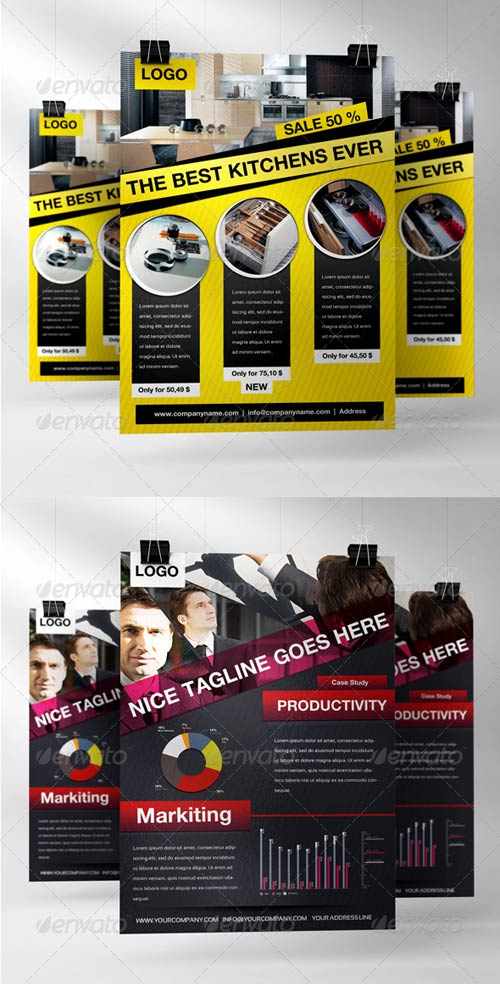 GraphicRiver Business Flyers Set