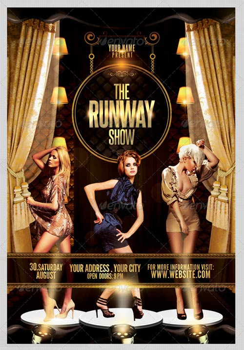 graphicriver the runway show flyer template. Black Bedroom Furniture Sets. Home Design Ideas