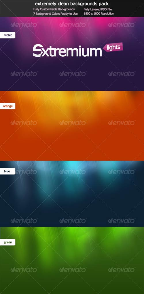GraphicRiver Extremium Lights - extremely clean background pack