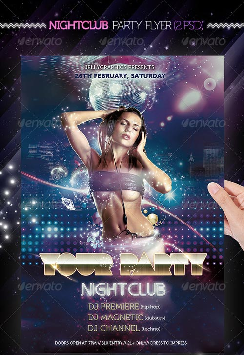 GraphicRiver Nightclub Party Flyer Template