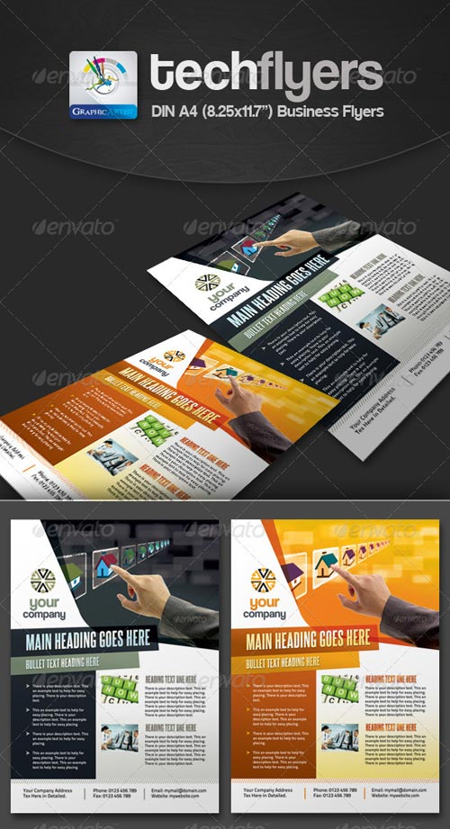 GraphicRiver Tech Multipurpose Business Flyers