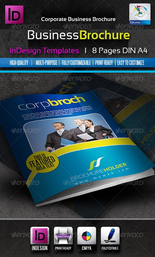 GraphicRiver Corporate Business InDesign Brochure 8pages