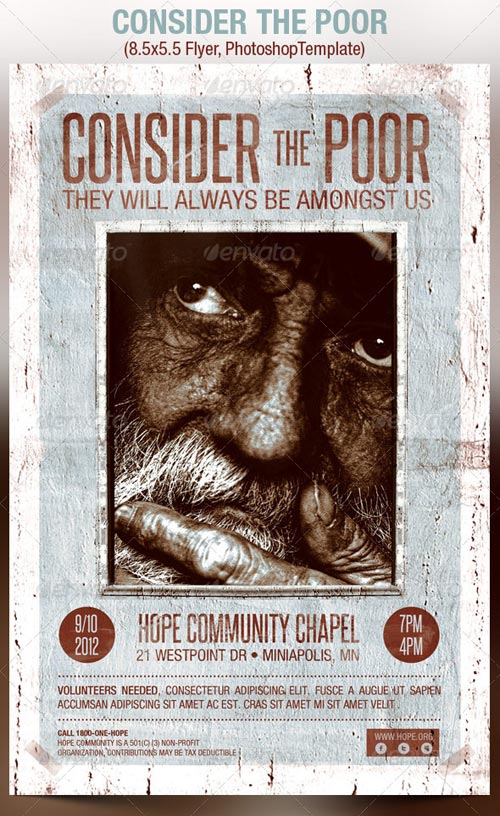 GraphicRiver Consider The Poor Charity Organization Flyer