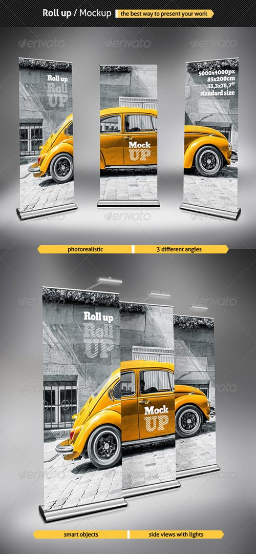 GraphicRiver Roll Up - Mockup