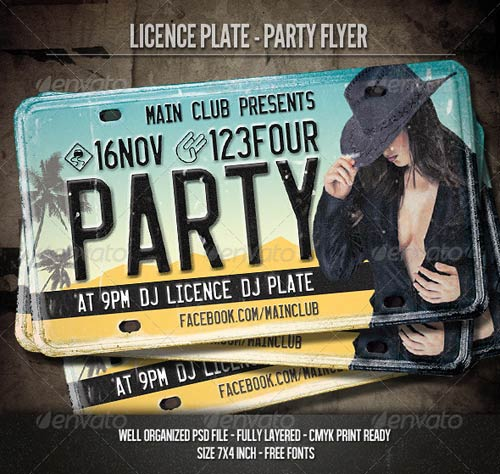 GraphicRiver Licence Plate - Party Flyer