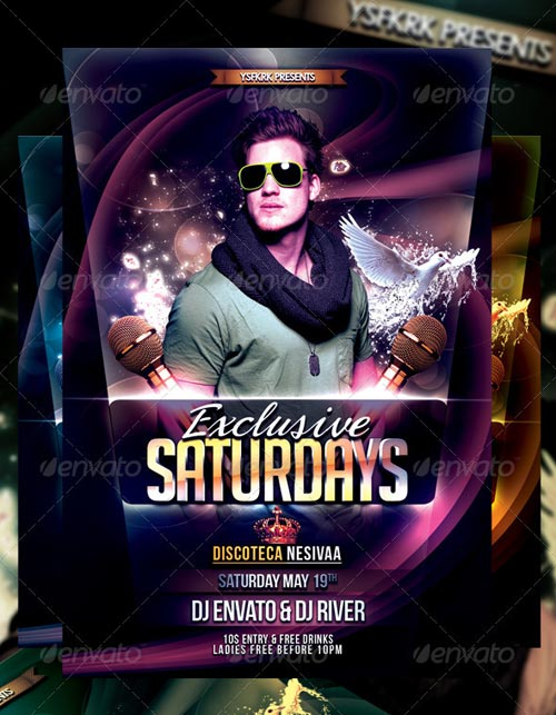 GraphicRiver Exclusive Saturday Flyer Template