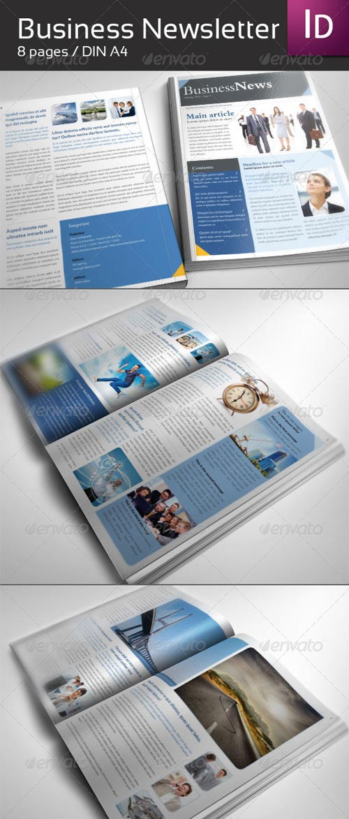 GraphicRiver Business Newsletter DIN A4