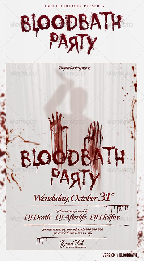 GraphicRiver Blood Bath Party Flyer 3 Sizes