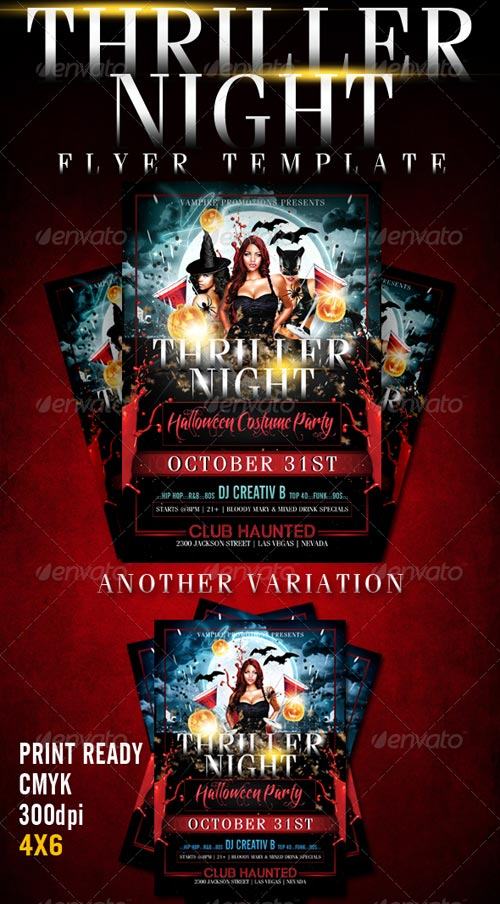 GraphicRiver Thriller Night Halloween Flyer Template