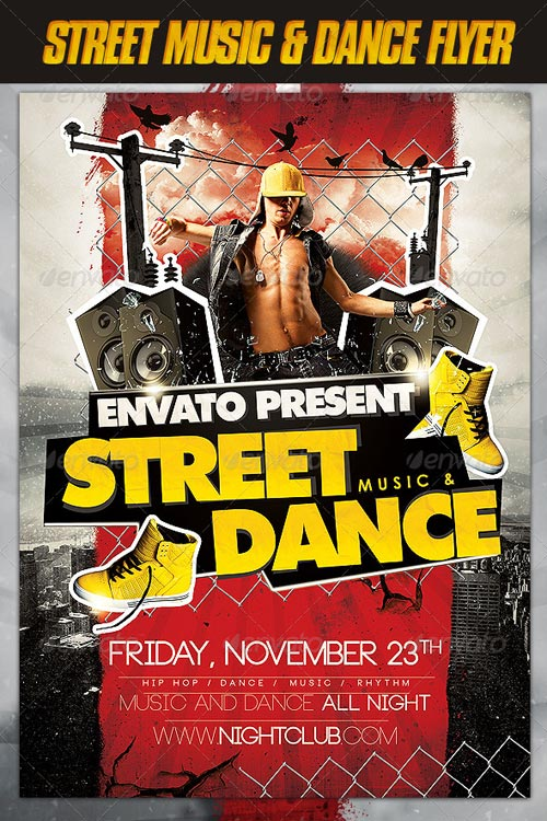 GraphicRiver Street Music and Dance Flyer
