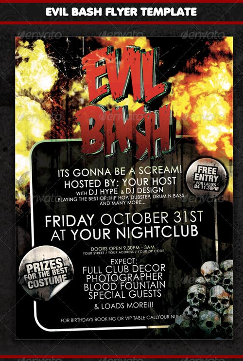 GraphicRiver Evil Bash Flyer Or Event Poster Template