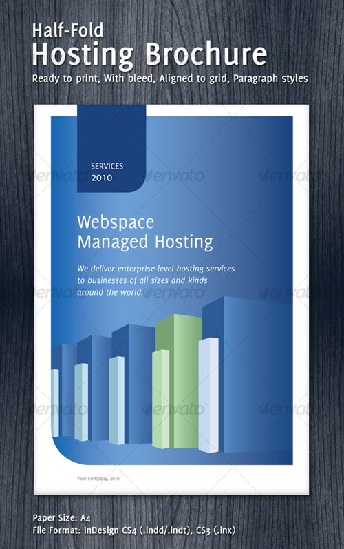 GraphicRiver Half-Fold Hosting Brochure