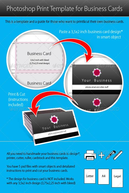 GraphicRiver Photoshop Print Template for Business Cards