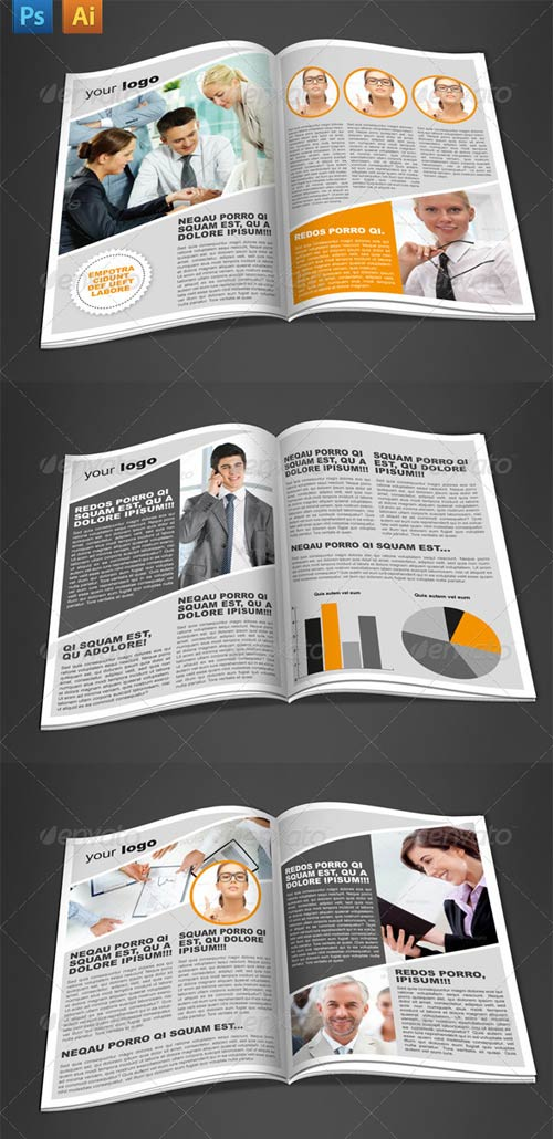 GraphicRiver 6 Pages Newsletter