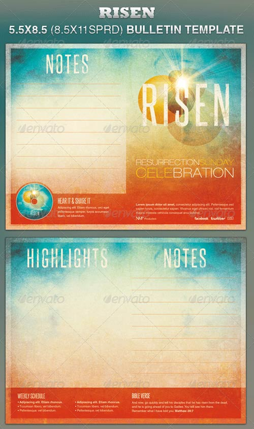 GraphicRiver Risen Church Bulletin Template