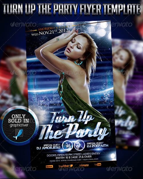 GraphicRiver Turn Up The Party Flyer Template