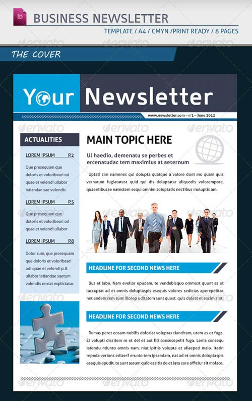 GraphicRiver Modern Business Newsletter Template A4
