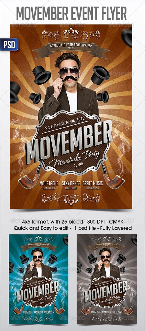 GraphicRiver Movember Fyer