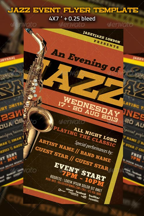 GraphicRiver Jazz Event Flyer Template