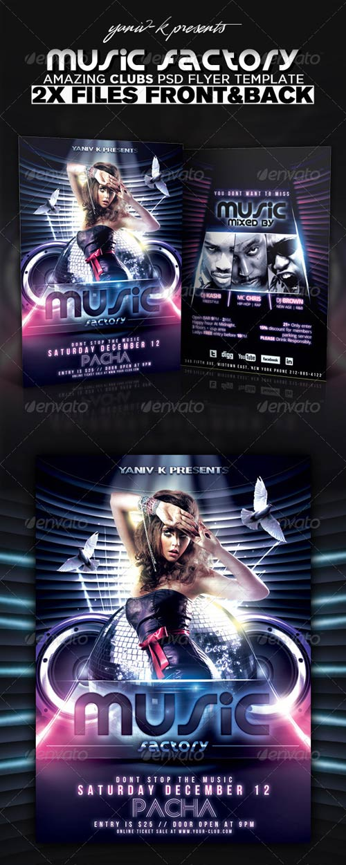 GraphicRiver Music Factory Flyer Template